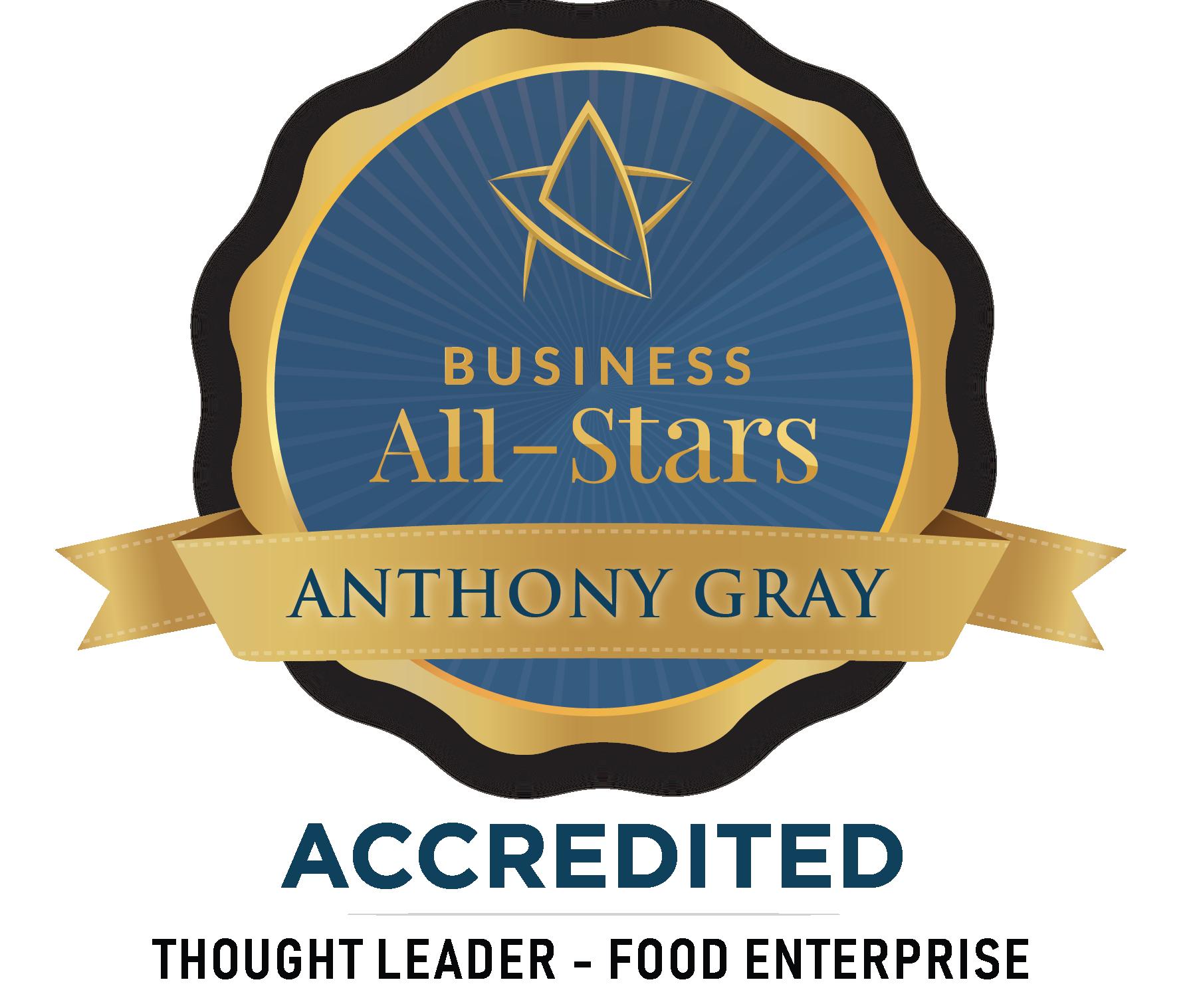 Anthony Gray - Taste of Sligo Tours  - Business All-Stars Accreditation
