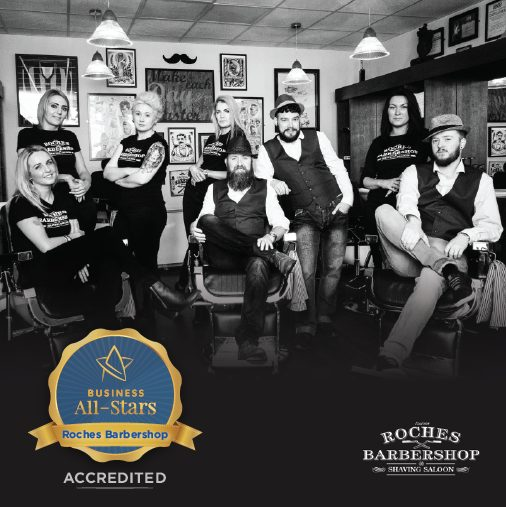 Roches Barbershop & Shaving Saloon - Business All-Stars Accreditation