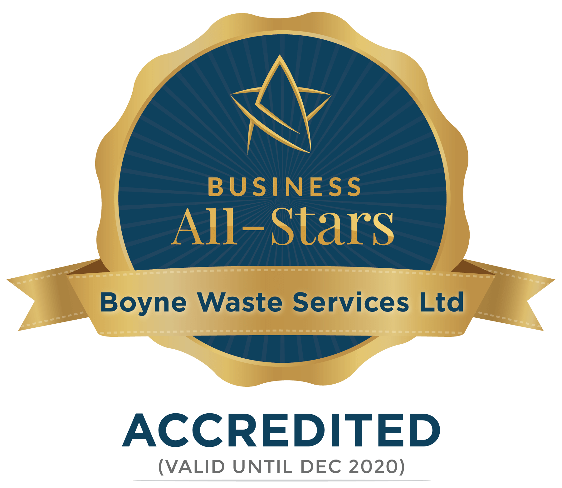 Boyne Waste Services Ltd - Business All-Stars Accreditation