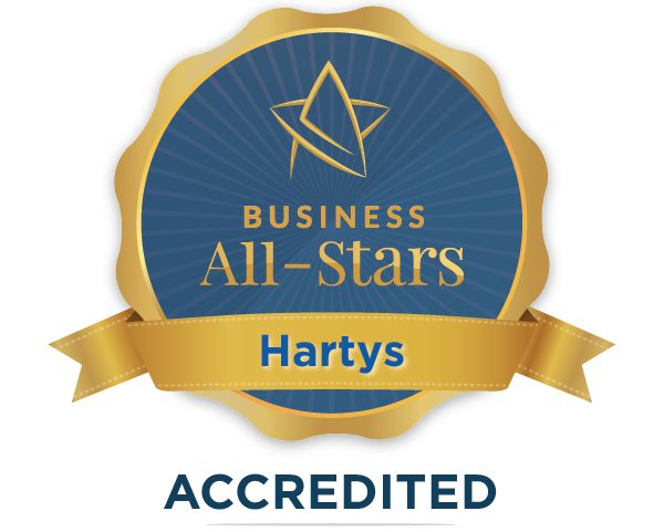 Hartys Bar and Restaurant - Business All-Stars Accreditation