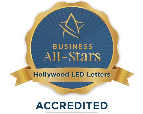 Hollywood LED Letters - Business All-Stars Accreditation