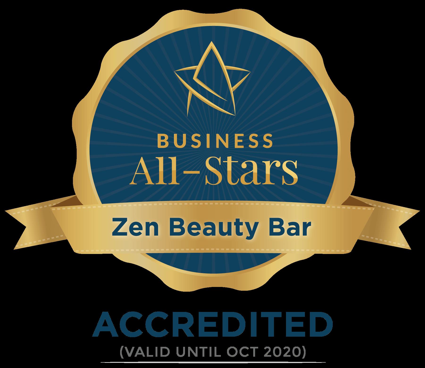 Zen Beauty Bar - Business All-Stars Accreditation
