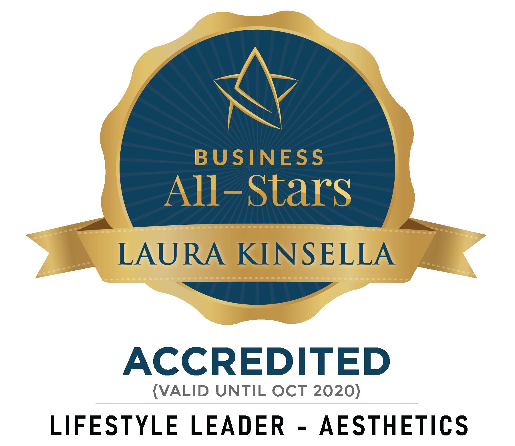 Laura Kinsella - LMK Skin - Business All-Stars Accreditation