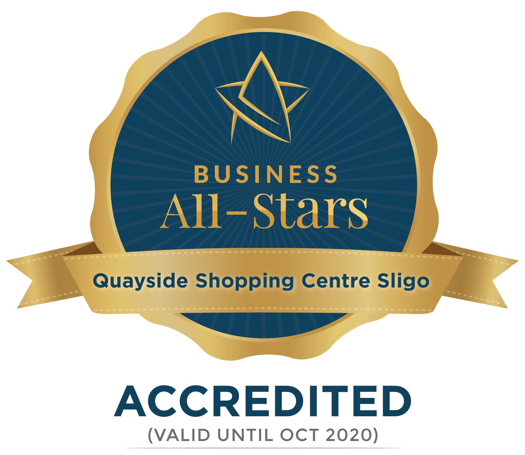 Quayside Shopping Centre Sligo - Business All-Stars Accreditation