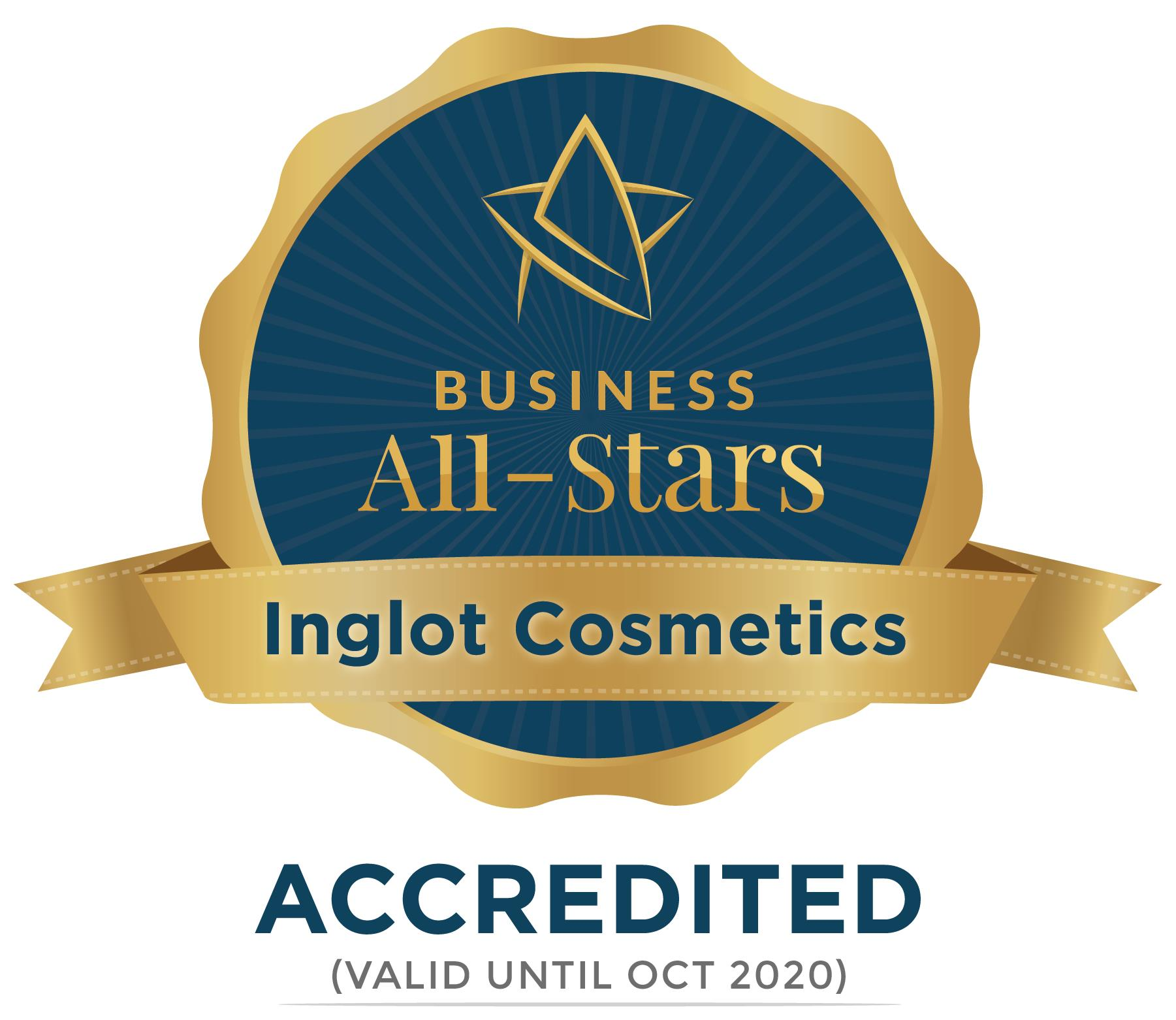 Inglot Cosmetics - Business All-Stars Accreditation