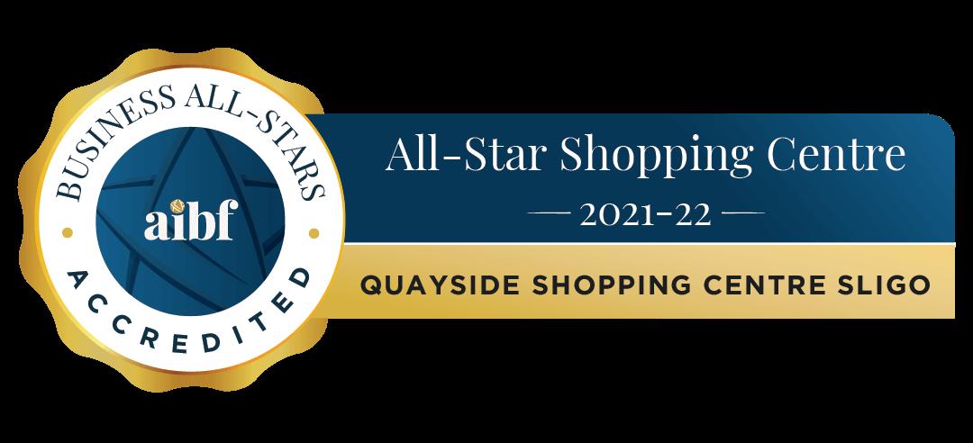 Quayside Shopping Centre Sligo - Business All-Stars Accreditation
