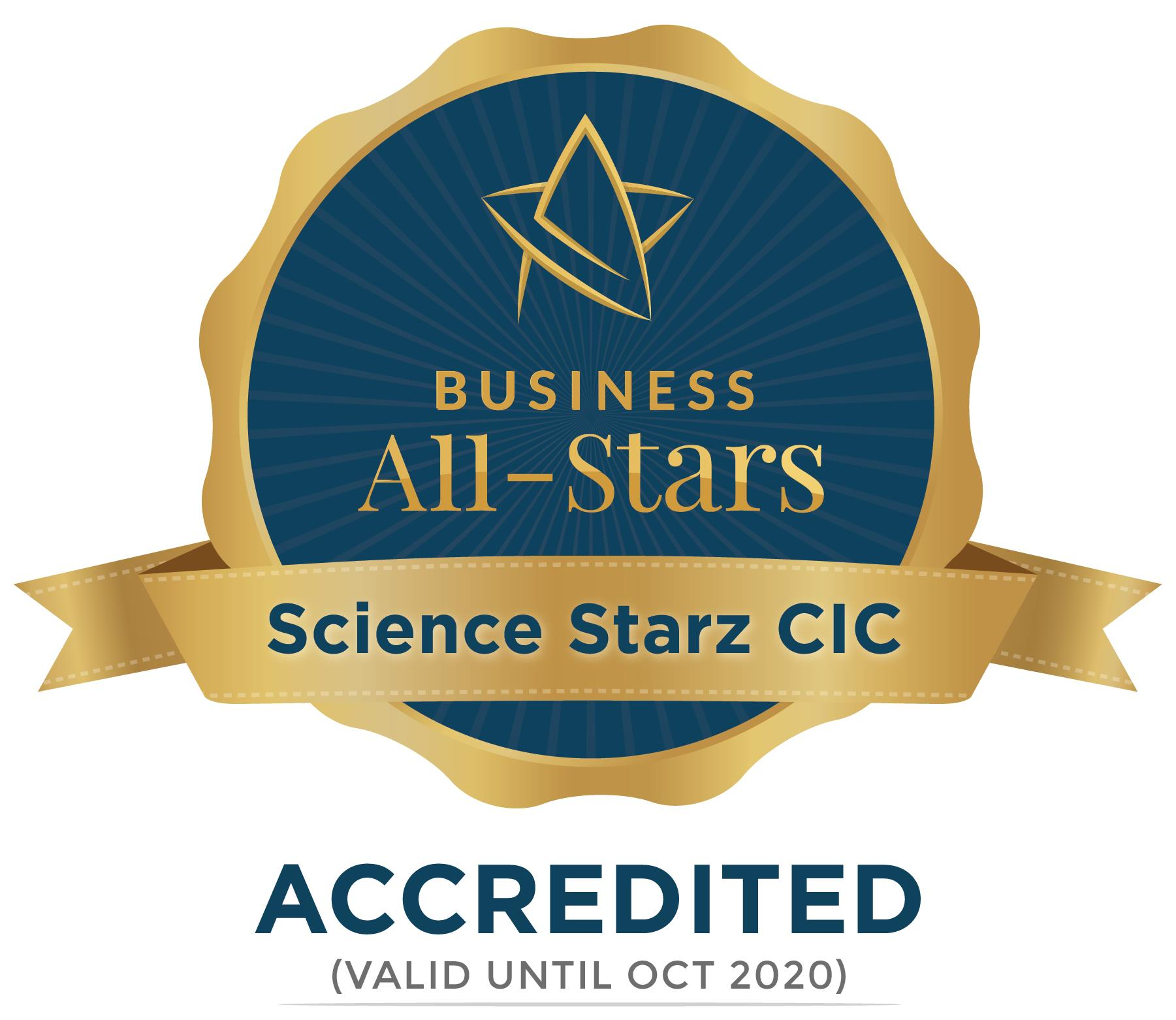 Science Starz CIC - Business All-Stars Accreditation