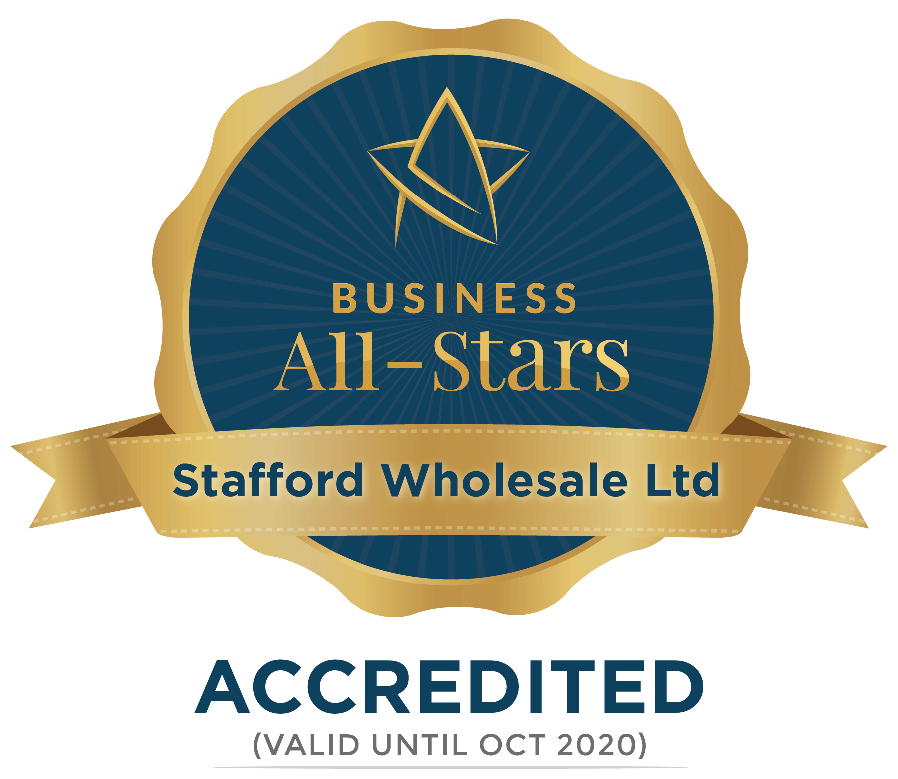 Stafford Bonded - Business All-Stars Accreditation