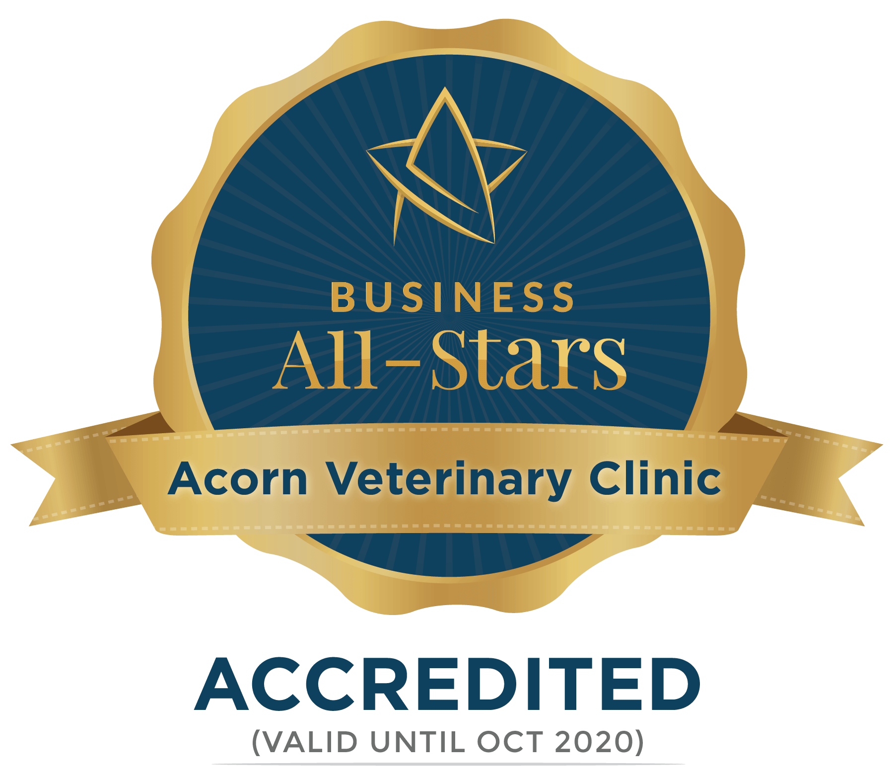 Acorn Veterinary Clinic - Business All-Stars Accreditation