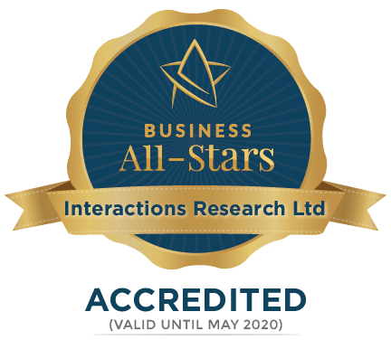 Interactions Research Ltd - Business All-Stars Accreditation