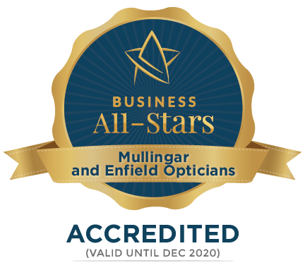 Mullingar and Enfield Opticians - Business All-Stars Accreditation