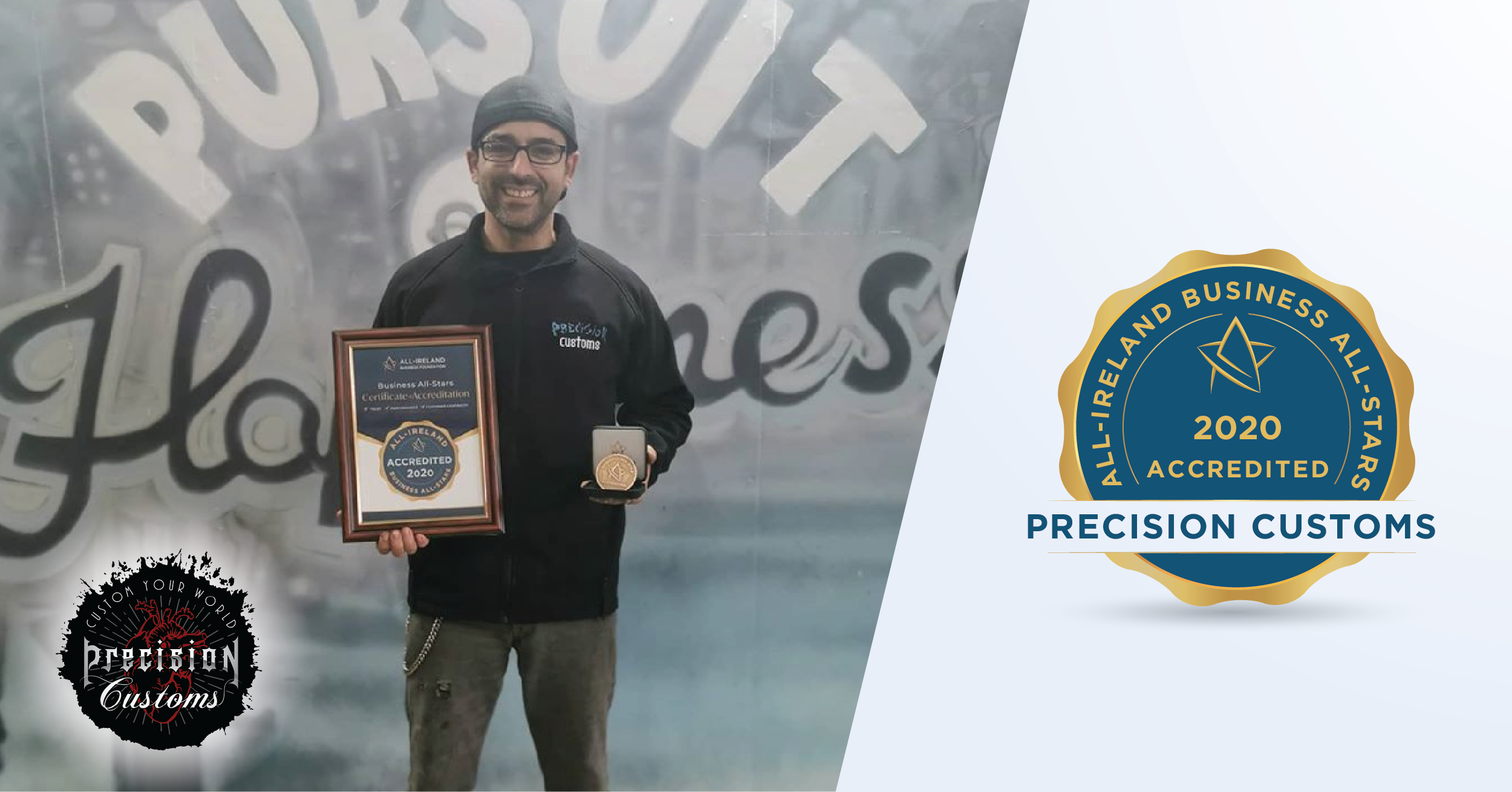 Rafael Costa - MD, Precision Customs With His Business All-Star Accreditation.