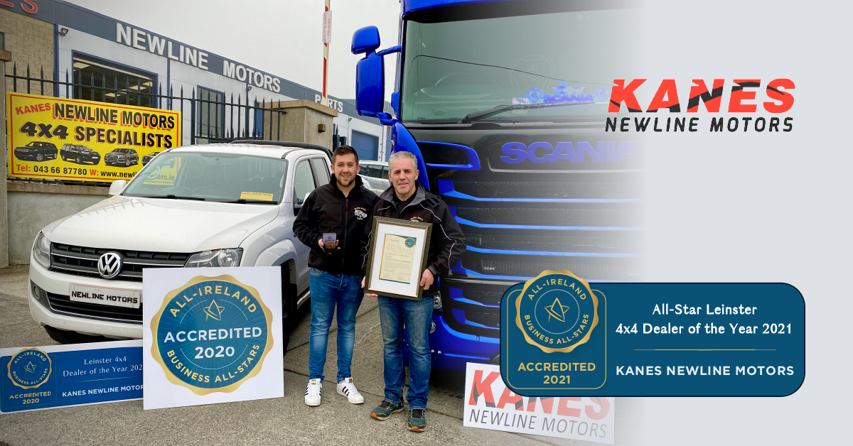 Left to Right - David Kane and Pauric Kane photographed with their All-Star Accreditation certificate and medallion.