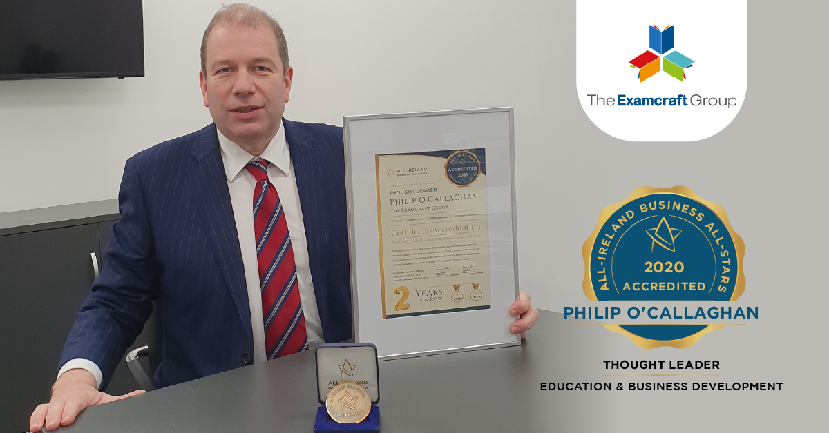 Philip O'Callaghan, entrepreneur and Managing Director of the Examcraft Group has emerged as a thought leader in education.</br></br>