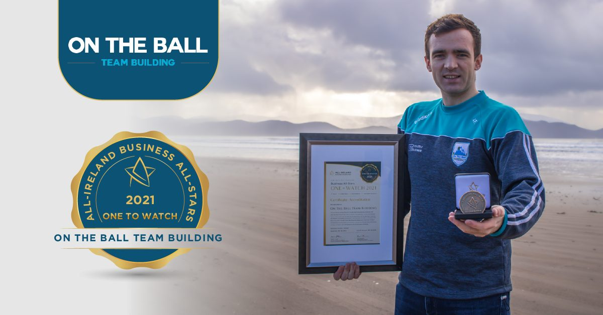 Jamie Finn, Founder of On The Ball Team Building with his All-Star Accreditation certificate and medallion.