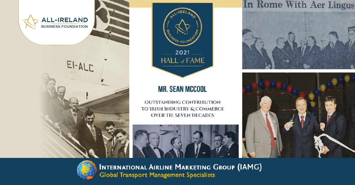 Sean McCool, Owner of International Airlines Marketing Ltd selected for AIBF Hall of Fame Accreditation.