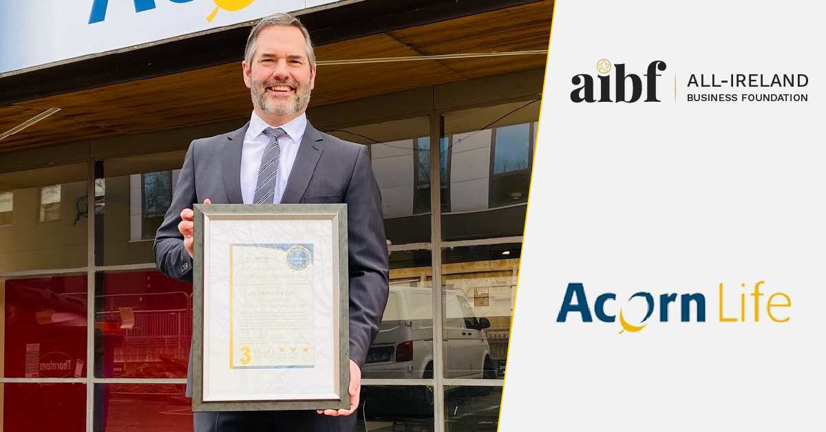 Mark O'Connor, Responsible for Commercial and Agency Development at Acorn Life with his All-Star Accreditation certificate.