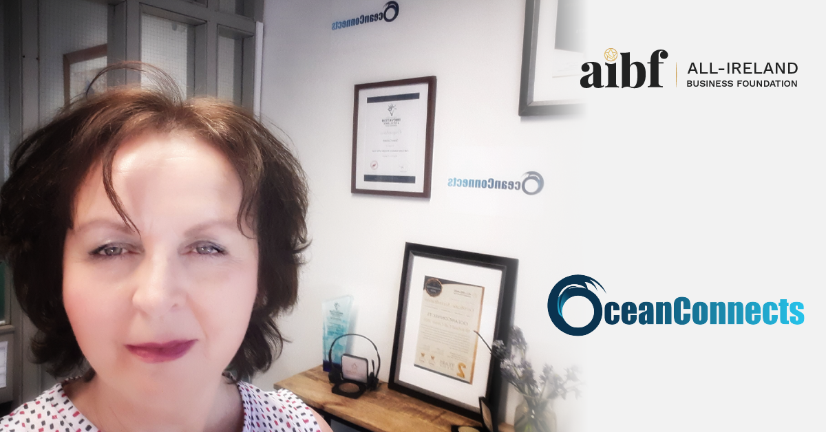 Helen Rowland, Owner of OceanConnects with her All-Star Accreditation certificate.