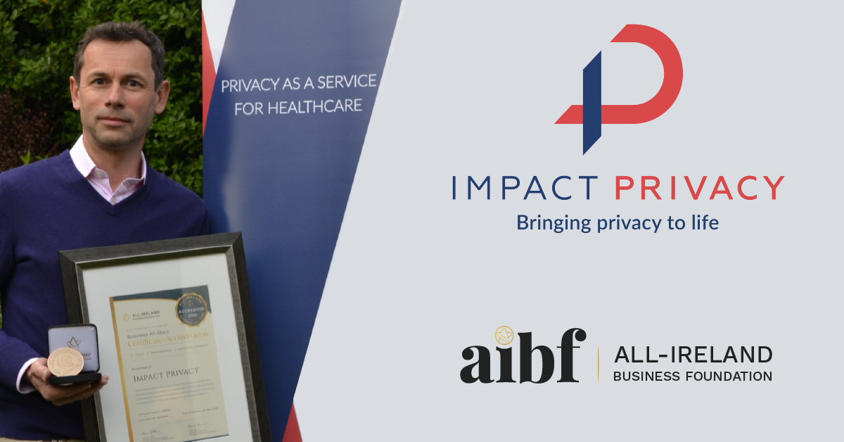 Leon Atkins, CEO of Impact Privacy with his All-Star Accreditation certificate and medallion.
