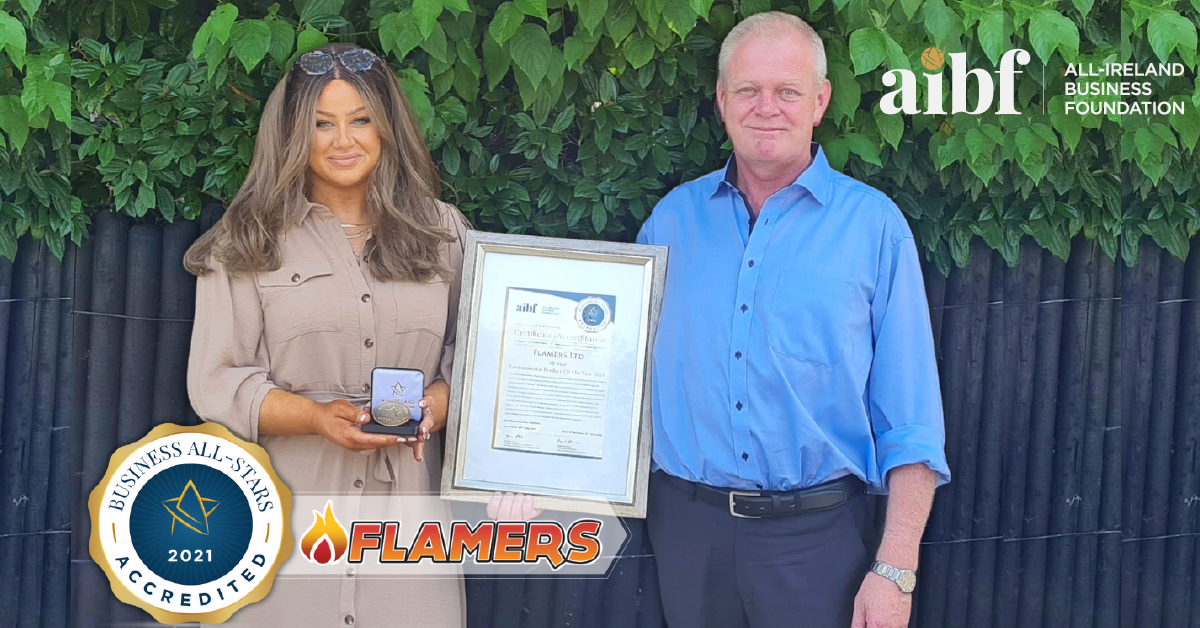 Flamers.ie Sales Co-ordinator Maelisa Tierney with Flamers Manager Declan Smyth.
