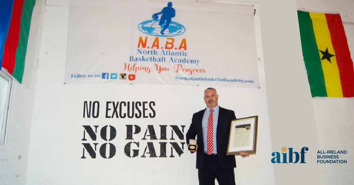 Dermot Russell, Director & Owner at The NAB Academy Ltd with his All-Star Accreditation certificate and medallion.