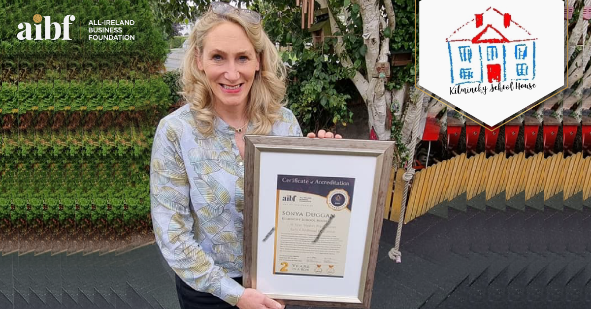 Sonya Duggan, Director at Kilminchy School House with her All-Star Accreditation certificate.