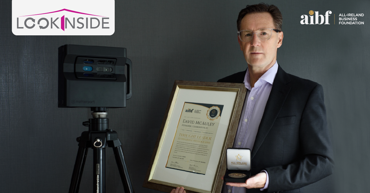David McAuley, Founder at Lookinside.ie with his All-Star Accreditation certificate and medallion.