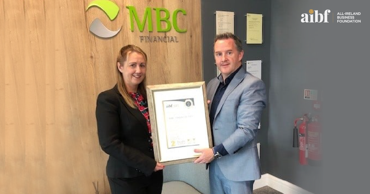 Pictured above: Life & Pensions Advisor Sarah Walshe with MBC Financial Managing Director Alan McCarthy.
