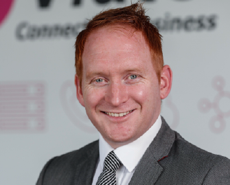 Damien	McCann at All Ireland Business Summit, Dublin