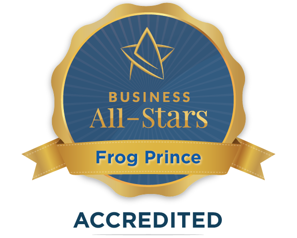Frog Prince Wedding & Events - Business All-Stars Accreditation